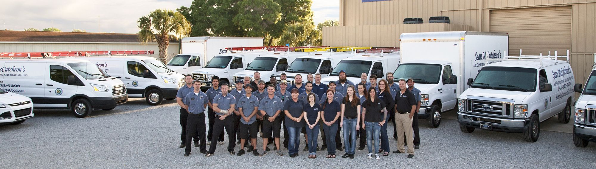 SMAC - Sarasota Air Conditioning Compnay - Team members and trucks